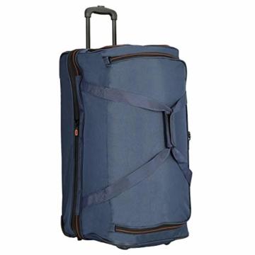travelite 2-Rad Trolley Reisetasche Gr. L mit Dehnfalte, Gepäck Serie BASICS: Weichgepäck Reisetasche mit Rollen mit extra Volumen, 096276-01, 70 cm, 98 Liter (erweiterbar auf 119 Liter) schwarz - 8