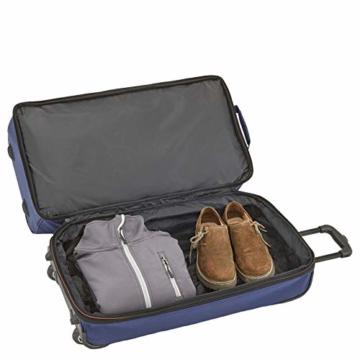 travelite 2-Rad Trolley Reisetasche Gr. L mit Dehnfalte, Gepäck Serie BASICS: Weichgepäck Reisetasche mit Rollen mit extra Volumen, 096276-01, 70 cm, 98 Liter (erweiterbar auf 119 Liter) schwarz - 9