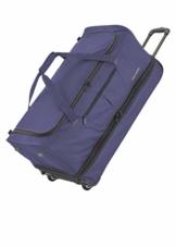 travelite 2-Rad Trolley Reisetasche Gr. L mit Dehnfalte, Gepäck Serie BASICS: Weichgepäck Reisetasche mit Rollen mit extra Volumen, 096276-20, 70 cm, 98 Liter (erweiterbar auf 119 Liter) marine - 1