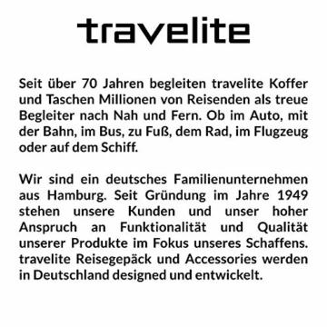 travelite 2-Rad Trolley Reisetasche Gr. L mit Dehnfalte, Gepäck Serie BASICS: Weichgepäck Reisetasche mit Rollen mit extra Volumen, 096276-20, 70 cm, 98 Liter (erweiterbar auf 119 Liter) marine - 3