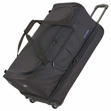 travelite 2-Rad Trolley Reisetasche Gr. L mit Dehnfalte, Gepäck Serie BASICS: Weichgepäck Reisetasche mit Rollen mit extra Volumen, 096276-01, 70 cm, 98 Liter (erweiterbar auf 119 Liter) schwarz - 1