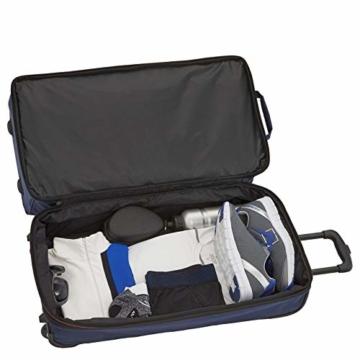 travelite 2-Rad Trolley Reisetasche Gr. L mit Dehnfalte, Gepäck Serie BASICS: Weichgepäck Reisetasche mit Rollen mit extra Volumen, 096276-01, 70 cm, 98 Liter (erweiterbar auf 119 Liter) schwarz - 2
