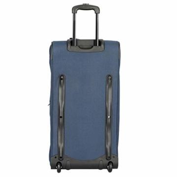 travelite 2-Rad Trolley Reisetasche Gr. L mit Dehnfalte, Gepäck Serie BASICS: Weichgepäck Reisetasche mit Rollen mit extra Volumen, 096276-01, 70 cm, 98 Liter (erweiterbar auf 119 Liter) schwarz - 3