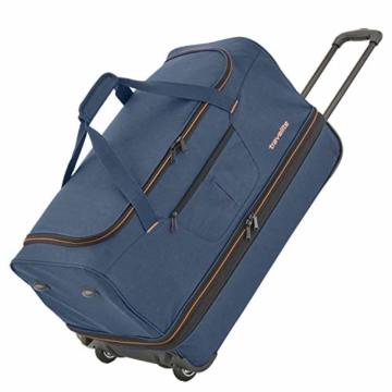 travelite 2-Rad Trolley Reisetasche Gr. L mit Dehnfalte, Gepäck Serie BASICS: Weichgepäck Reisetasche mit Rollen mit extra Volumen, 096276-01, 70 cm, 98 Liter (erweiterbar auf 119 Liter) schwarz - 5