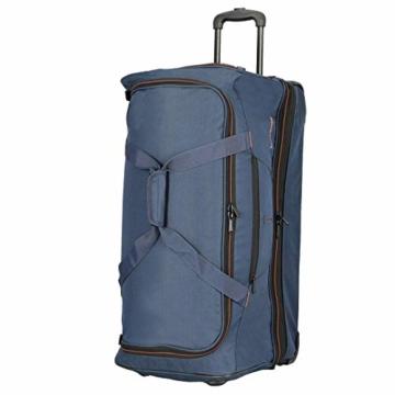 travelite 2-Rad Trolley Reisetasche Gr. L mit Dehnfalte, Gepäck Serie BASICS: Weichgepäck Reisetasche mit Rollen mit extra Volumen, 096276-01, 70 cm, 98 Liter (erweiterbar auf 119 Liter) schwarz - 6