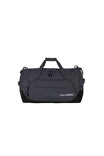 travelite große Reisetasche Größe L, Gepäck Serie KICK OFF: Praktische Reisetasche für Urlaub und Sport, 006915-04, 60 cm, 73 Liter, d'anthrazit (grau) - 1
