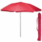TW24 Sonnenschirm 175 cm mit Farbwahl Strandschirm UV 50+ Sonnenschutz Gartenschirm verstellbar Schirm (Rot) - 1