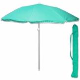 TW24 Sonnenschirm 175 cm mit Farbwahl Strandschirm UV 50+ Sonnenschutz Gartenschirm verstellbar Schirm (Grün) - 1