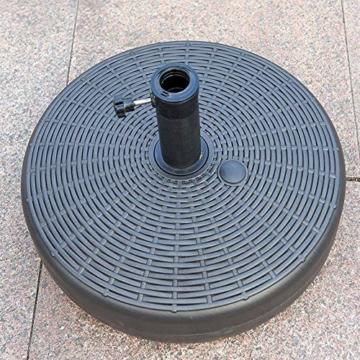 Umbrella Base Sonnenschirmständer Kunststoff Schirmständer Befüllbar mit Wasser verstellbar Ampelschirmständer Durchmesser 51cm, Stockgröße-38-48mm, Balkonschirmständer für Balkon Stand - 2