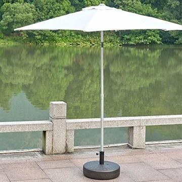 Umbrella Base Sonnenschirmständer Kunststoff Schirmständer Befüllbar mit Wasser verstellbar Ampelschirmständer Durchmesser 51cm, Stockgröße-38-48mm, Balkonschirmständer für Balkon Stand - 3