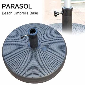 Umbrella Base Sonnenschirmständer Kunststoff Schirmständer Befüllbar mit Wasser verstellbar Ampelschirmständer Durchmesser 51cm, Stockgröße-38-48mm, Balkonschirmständer für Balkon Stand - 5