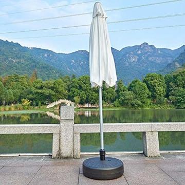 Umbrella Base Sonnenschirmständer Kunststoff Schirmständer Befüllbar mit Wasser verstellbar Ampelschirmständer Durchmesser 51cm, Stockgröße-38-48mm, Balkonschirmständer für Balkon Stand - 6