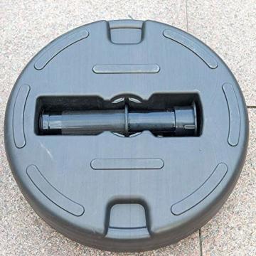 Umbrella Base Sonnenschirmständer Kunststoff Schirmständer Befüllbar mit Wasser verstellbar Ampelschirmständer Durchmesser 51cm, Stockgröße-38-48mm, Balkonschirmständer für Balkon Stand - 7