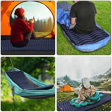 Unigear Camping Isomatte, Aufblasbare Luftmatratze Camping, Schlafmatte für Outdoor, Feuchtigkeitsbeständig Wasserdicht und rutschfest, MEHRWEG (Dunkelblau) - 2