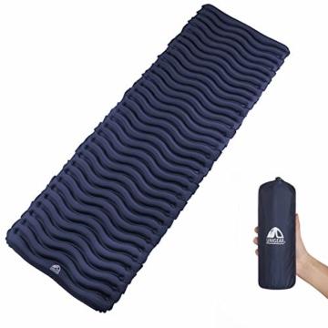 Unigear Camping Isomatte, Aufblasbare Luftmatratze Camping, Schlafmatte für Outdoor, Feuchtigkeitsbeständig Wasserdicht und rutschfest, MEHRWEG (Dunkelblau) - 1