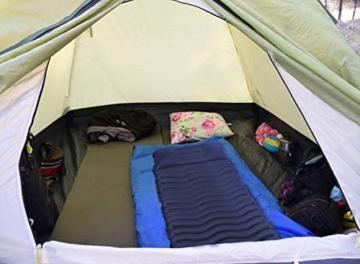 Unigear Camping Isomatte, Aufblasbare Luftmatratze Camping, Schlafmatte für Outdoor, Feuchtigkeitsbeständig Wasserdicht und rutschfest, MEHRWEG (Dunkelblau) - 5