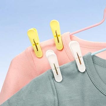 URAQT Wäscheklammer, 24 PCS Kunststoff Handtuchklemmen, Kleine Strandtuchklammern, Home Wäscheklammern, Towel Clips für Wäscheständer Wäscheleine und Wäschekorb, Vier Farben - 4