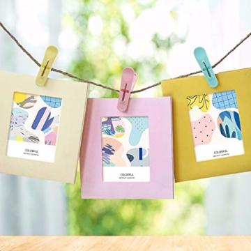 URAQT Wäscheklammer, 24 PCS Kunststoff Handtuchklemmen, Kleine Strandtuchklammern, Home Wäscheklammern, Towel Clips für Wäscheständer Wäscheleine und Wäschekorb, Vier Farben - 7