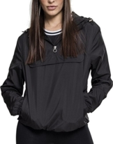 Urban Classics Damen Übergangs-Jacke Ladies Basic Pull-Over Jacket ,Schwarz (Black 00007) ,M - 1