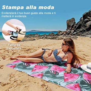 VBIGER Strandtuch Mikrofaser Badetuch Groß Strandhandtuch Strandabdeckung Bikini Tuch fürs Strand Picknick Sport - 2