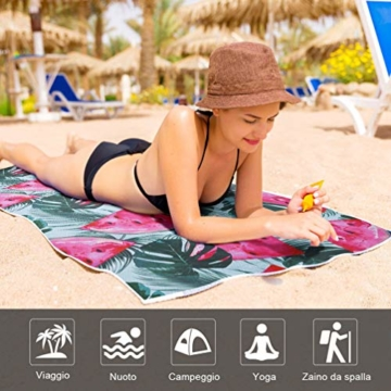VBIGER Strandtuch Mikrofaser Badetuch Groß Strandhandtuch Strandabdeckung Bikini Tuch fürs Strand Picknick Sport - 7