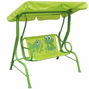 vidaXL Kinder Hollywoodschaukel Grün Kinderschaukel Gartenschaukel Gartenbank - 1