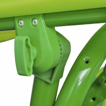 vidaXL Kinder Hollywoodschaukel Grün Kinderschaukel Gartenschaukel Gartenbank - 2