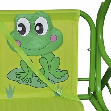 vidaXL Kinder Hollywoodschaukel Grün Kinderschaukel Gartenschaukel Gartenbank - 3