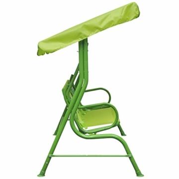 vidaXL Kinder Hollywoodschaukel Grün Kinderschaukel Gartenschaukel Gartenbank - 6
