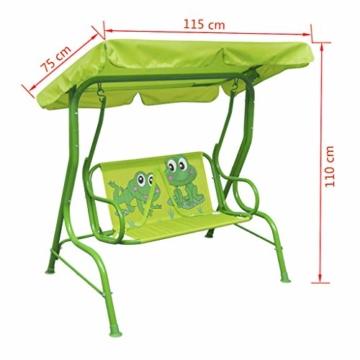 vidaXL Kinder Hollywoodschaukel Grün Kinderschaukel Gartenschaukel Gartenbank - 7