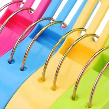 Voarge 8 Stück Handtuchklammer Strandtuchklammer Plastik 4 Farben Clips Groß Kleider Trocknen Klammer für Wäsche, Strandtuch, Badetuch, Teppich etc - 6