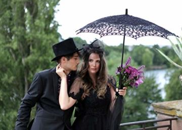VON LILIENFELD Hochzeitsschirm Brautschirm Vivienne Battenburg Spitze Deko Sonnenschirm Accessoire schwarz - 3