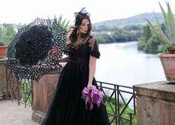 VON LILIENFELD Hochzeitsschirm Brautschirm Vivienne Battenburg Spitze Deko Sonnenschirm Accessoire schwarz - 4