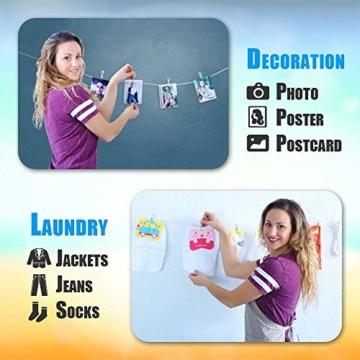 Wäscheklammern aus Edelstahl,Metallklammern für Fotos,Stahl Klammern,Clips Rostfreie Mehrzweck Metall Wäscheklammern zum Wäschetrocknen, Handtücher, Socken, Snack,Verschluss (100 Stück) - 7