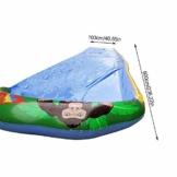 Wasserrutsche, Sandrutsche Mit 103 cm 600 cm Spray Und Aufblasbarem Antikollisionspad, Gartenrutsche Im Freien Für Kinder, Wasserspaß Für Jungen Und Mädchen - 1