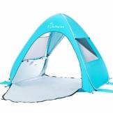 WolfWise UV-Schutz 50+ Pop up Strandmuschel Automatisches Strandzelt mit Ausziehbarer Boden Familien Portable Baby Beach Zelt in Outdoor Tragbar Wurfzelt - 1