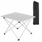 WOLTU Alu Campingtisch klappbar Falttisch mit Tragetasche, Aluminium Reisetisch, leichte Alu Tisch 56 * 46 * 40cm, tragbar für Camping Garten Balkon - 1