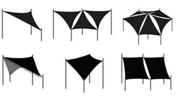 WOLTU Sonnensegel Rechteck 2x3m Grau atmungsaktiv Sonnenschutz HDPE Windschutz mit UV Schutz für Garten Terrasse Camping - 9