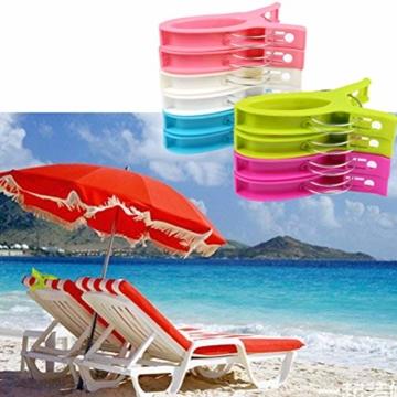WOWOSS 10 Stück Jumbo Größe Strandtuch Clips, Wäscheklammern Kunststoff Clips Qulit Handtuch Klammer für Strand Pool tägliche Wäsche, schwere Badetuch - 3