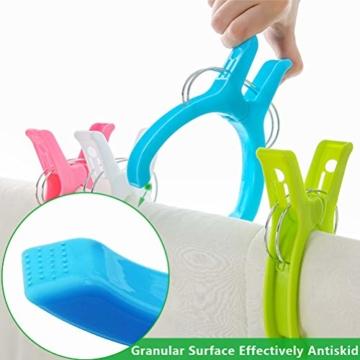 WOWOSS 10 Stück Jumbo Größe Strandtuch Clips, Wäscheklammern Kunststoff Clips Qulit Handtuch Klammer für Strand Pool tägliche Wäsche, schwere Badetuch - 6