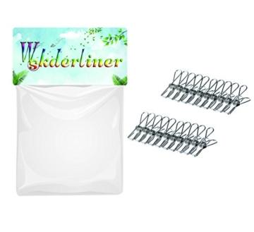 Wskderliner Clothes Pegs Stainless Steel Waescheklammer Pins Metal Wäsche Edelstahl Silber Starke Elastizität Packung von 60 - 3