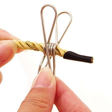 Wskderliner Clothes Pegs Stainless Steel Waescheklammer Pins Metal Wäsche Edelstahl Silber Starke Elastizität Packung von 60 - 6
