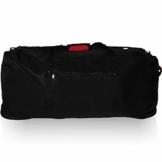 XXL Reisetasche/Trolleytasche Tasche mit 3 Rollen und Trolley Funktion (SCHWARZ) - 1