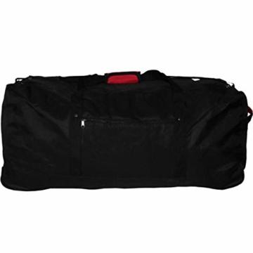 XXL Reisetasche/Trolleytasche Tasche mit 3 Rollen und Trolley Funktion (SCHWARZ) - 2