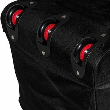 XXL Reisetasche/Trolleytasche Tasche mit 3 Rollen und Trolley Funktion (SCHWARZ) - 6