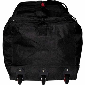 XXL Reisetasche/Trolleytasche Tasche mit 3 Rollen und Trolley Funktion (SCHWARZ) - 7