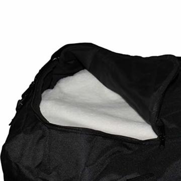XXL Reisetasche/Trolleytasche Tasche mit 3 Rollen und Trolley Funktion (SCHWARZ) - 9