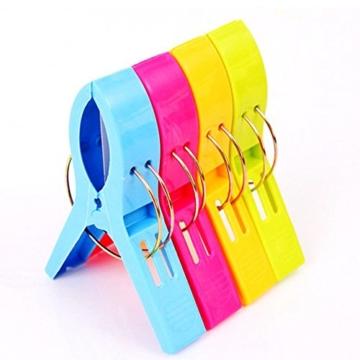 Yigo 4 Stück große Wäscheklammern Kunststoff Clips Quilt Clips für tägliche Wäsche - 2