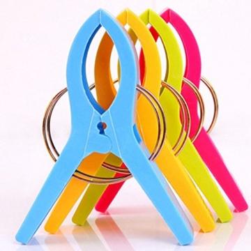 Yigo 4 Stück große Wäscheklammern Kunststoff Clips Quilt Clips für tägliche Wäsche - 3