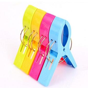 Yigo 4 Stück große Wäscheklammern Kunststoff Clips Quilt Clips für tägliche Wäsche - 4